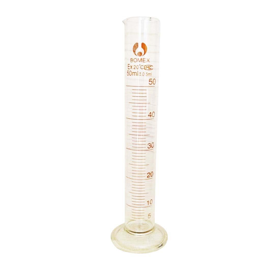 SODIAL(R) 5ml Graduated Glass Measuring Cylinder Chemistry Laboratory Measure LEPAZIK2873