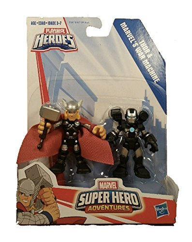 Playskool Heroes Marvel Super Hero Adventures Thor and War Machine Hasbro B5411
