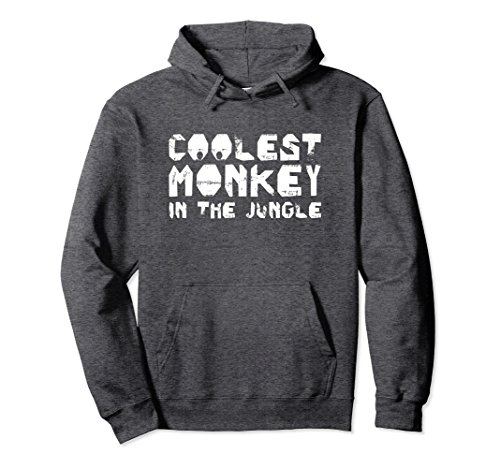 (Unisex Coolest Monkey In The Jungle Hoodies   Cool Monkey Gift XL: Dark Heather)