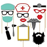 Medical Themed Photobooth Props Doctor and Nurse Props for Medical School Graduation, College, PhD, Lunch and Learn, Nurses Week