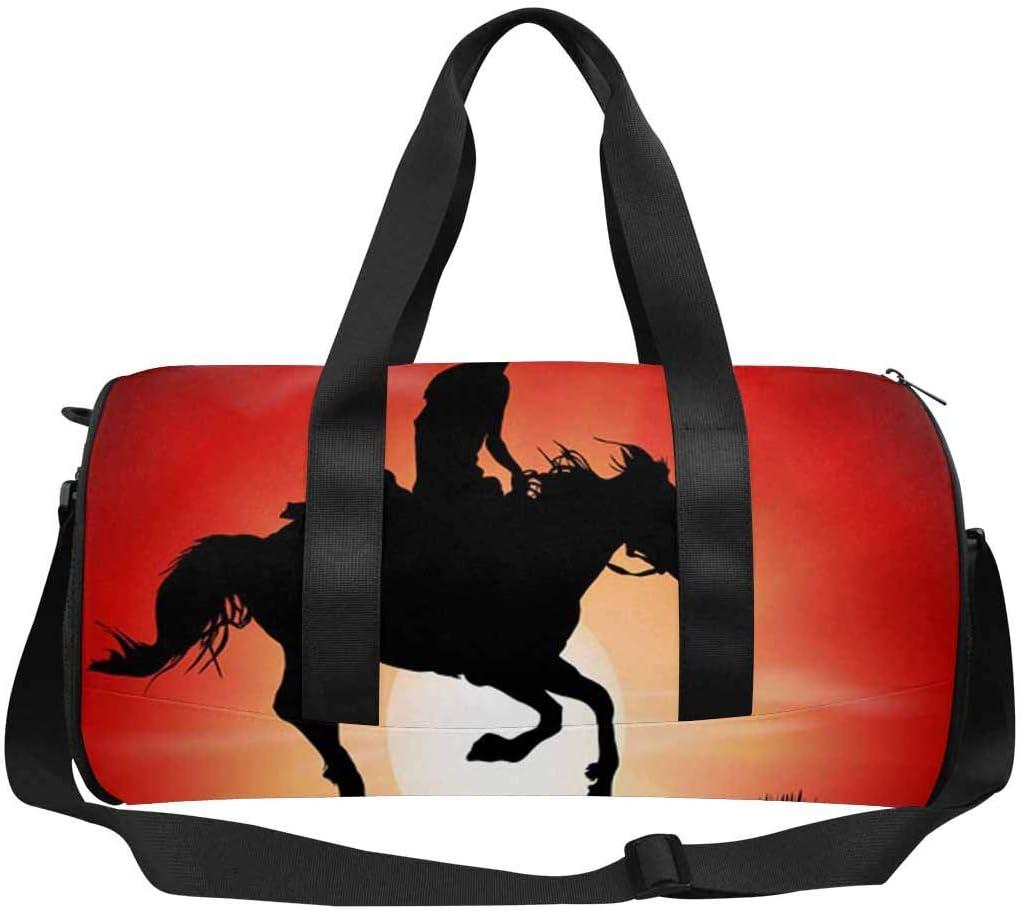 Weekender Bag INTERESTPRINT Cute Horse Race Riding Sport Travel Duffel Bag