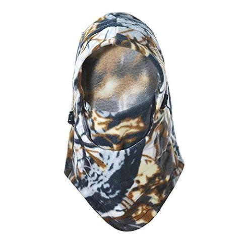 Hisea Fleece Balaclava Face Mask Ski Cycling Outdoor Sports Full Face Military Tactical Mask,Warm,Windproof, Multifunctional (Cappuccio Foderato Hat)