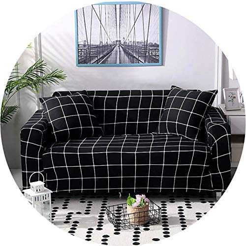 crack of dawn Elastic Sofa Cover Tight Wrap All-Inclusive I Shaped Sofa Cover Sofa Slipcover Stretch Furniture Covers 1/2/3/4 Seater 1PC,Color 4,3seater 190-230cm (Furniture Nz Outdoor Covers)