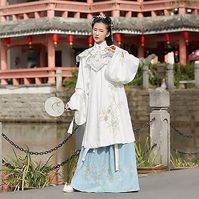 Liergou Traje de Novia Chino Antiguo para Mujer Hanfu Falda Blanca ...