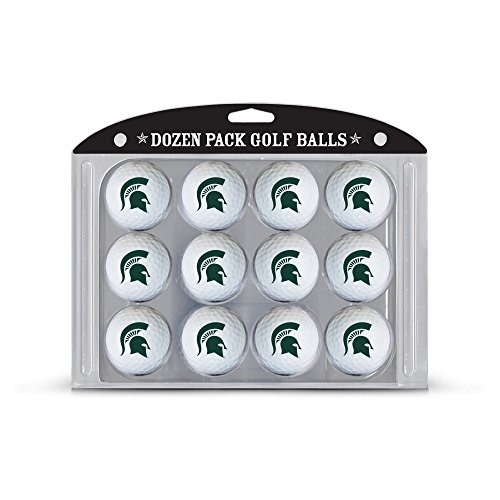 NCAA Michigan State Spartans Golf Balls, 12 Pack (State Logo Ball Balls Golf)