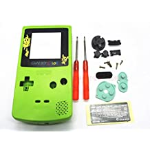Gametown Full Housing Shell Case Cover Pack with Screwdriver for Nintendo Game boy Color GBC Repair Part-Apple Green Pikachu