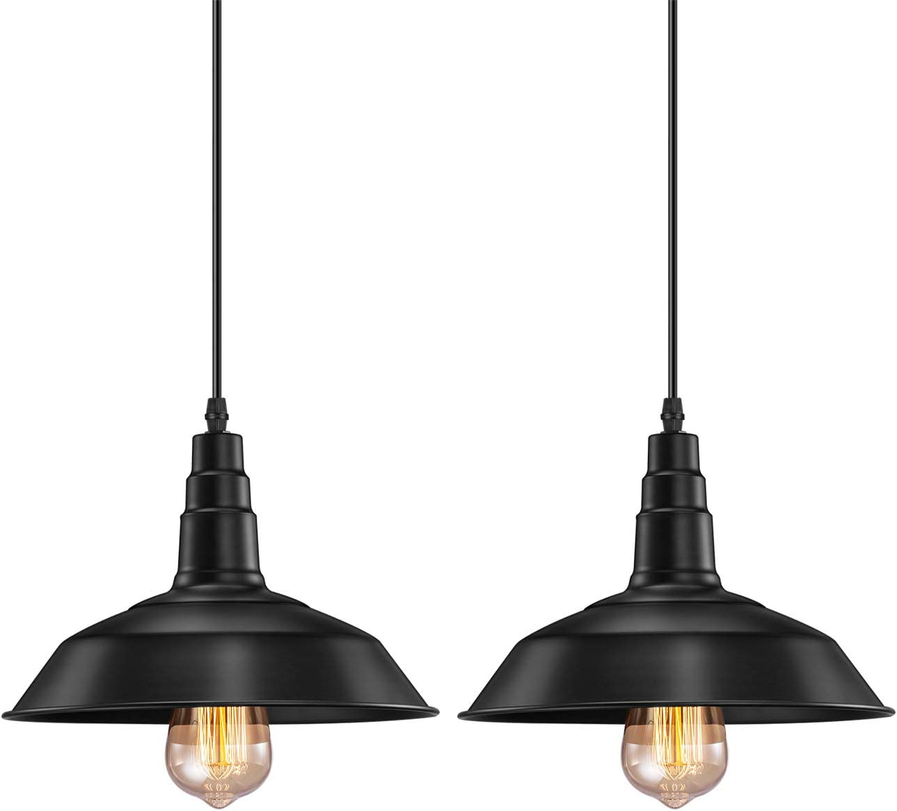 Retro Pendant Lights (2 Pack)
