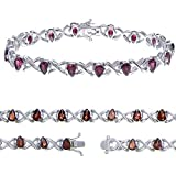 Vir Jewels, Bracelet Femme Argent fin 925/1000 Grenat 4.8 Karat