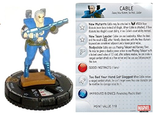 (Marvel Heroclix New Mutants Op Kit LE Cable #M15-001 Complete with Card)