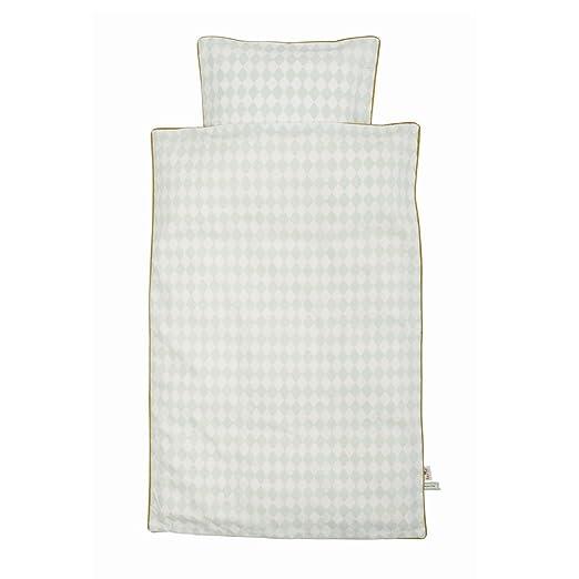 Ferm Living Harlequin Bedding - Mint - Junior - 100 x 140 cm ...