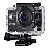 Sports Camera, VicTsing Full HD Action Camera 2.0 Inch 1080P Sport Action Camera with Waterproof 170° Wide Angle Lens 12MP Action Camcorder + Mounting Accessories Kits - Black