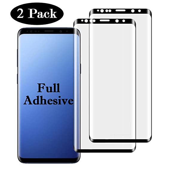 competitive price 7a50a 78dc7 Amazon.com: 2 Pack【Full Adhesive 】Galaxy 9SPlus Screen Protector ...