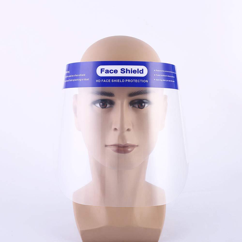 Schermo in Plexiglass Plastica 2x Visiera Protettiva Trasparente Paraschizzi Protezione per Occhi Maschera di protezione per il Viso