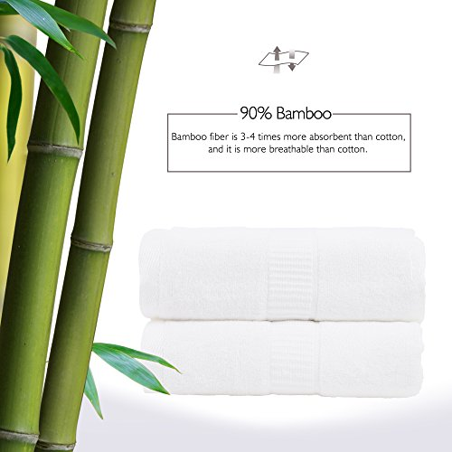 JML Bamboo Towels, 580GSM Heavy Bath Towels (2 Pack, 27