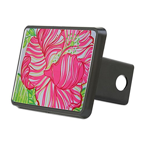 CafePress - Hibiscus in Lilly Pulitzer Hitch Cover - Trailer Hitch Cover, Truck Receiver Hitch Plug Insert ()