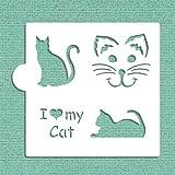 I Love My Cat Cookie and Craft Stencil CM028 by Designer Stencils