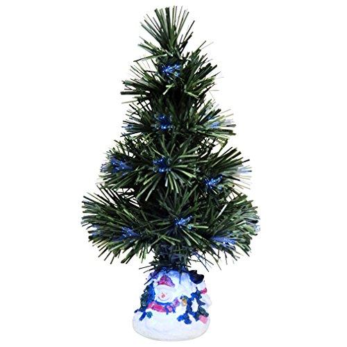 Evelots Mini Christmas Tree Fiber Optics Artificial With LED