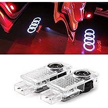 JIAFENG 2 Pcs Car Door LED Light HD Projector Shadow Lights For Audi A4 A3 A6 Q7 Q5 A1 A5 TT A8 Q3 A7 R8 RS (for Audi)