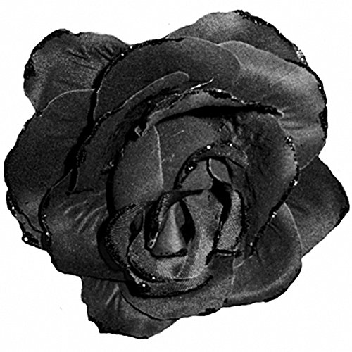 Goth Costumes (Amscan Womens Black Clip-on Goth Rose Halloween Costume Accessory)