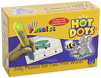 Amazon.com: Learning Resources Hot Dots Jolly Phonics First Words ...