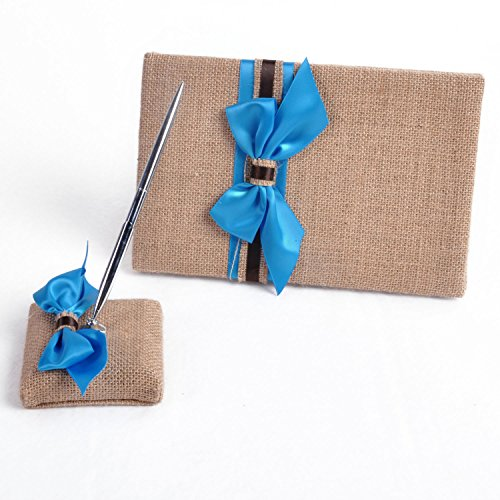 Elegant Linen Blue Ribbon Wedding Ceremony Collection