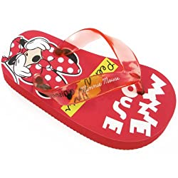 Disney Minnie Mouse MNS111 Flip Flop (Toddler),Red,5 M US Toddler