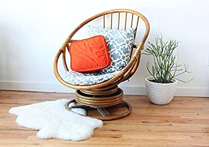 Designer Cane Low Sitting Chair with Cushion for Adults