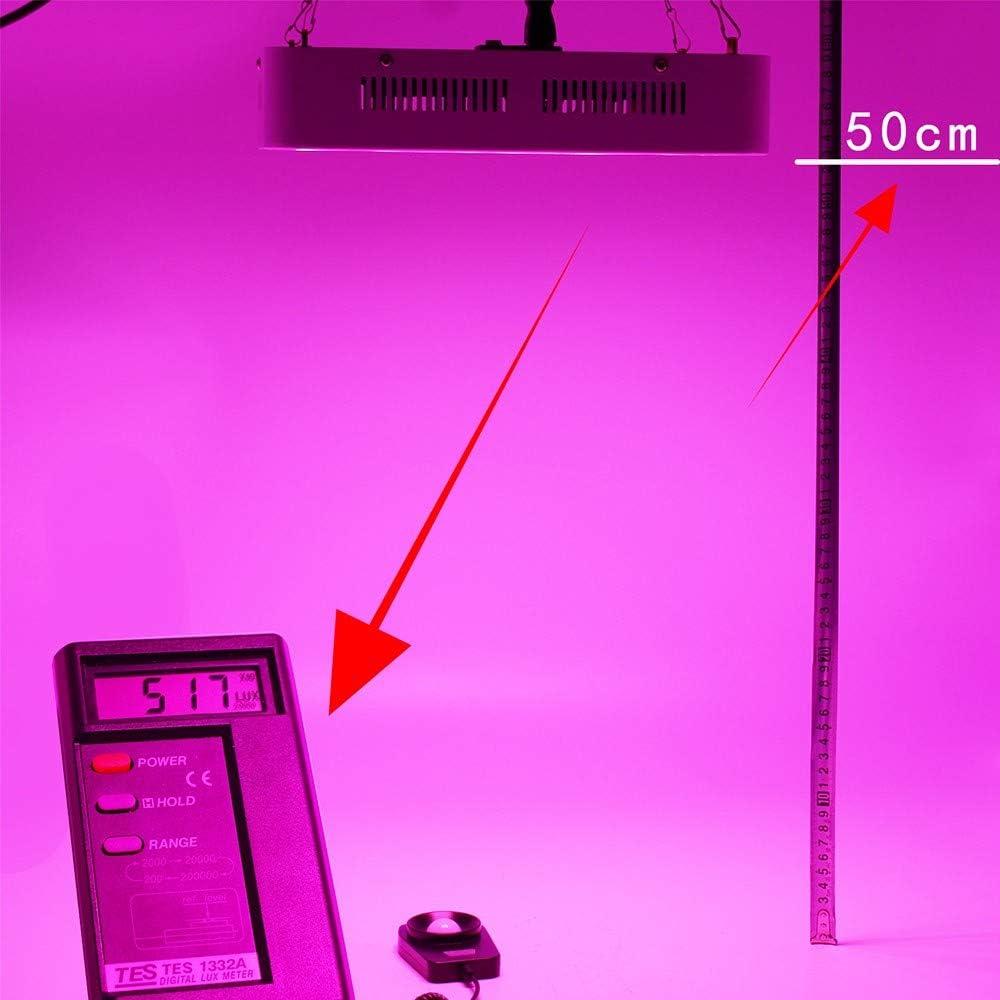 pour Int/érieur Hydroponique Plante HQFC 400W COB LED Lampe Plante Spectre Complet Croissance Light 2 Trous Serre P/épini/ère Lumi/ère dAppoint Spectre Complet Serre Lumi/ère V/ég/étale