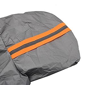 "Kalolary Large Car Windshield Snow Cover - Frost Cover Scarper with Drawstring - Snow, Ice, Frost Guard No More Scraping - Half Protective Cover Fits Most Car, SUV, Truck (W90""xL63"")"