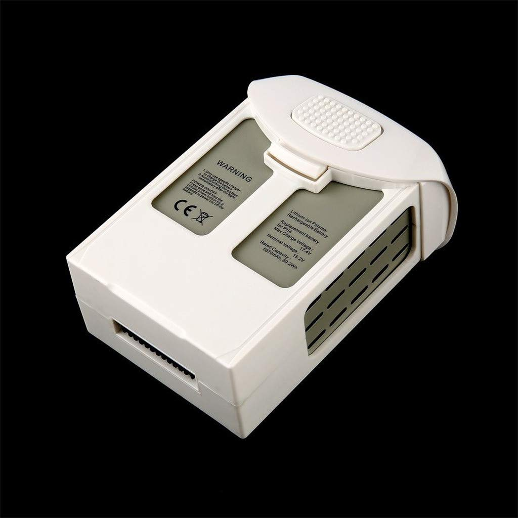 Intelligent Flight Lipo Battery 5870mAh 15.2V for DJI Phantom 4 Series Quality Assurance (White) by Aurorax Electric (Image #5)