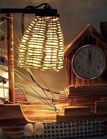ZQ Kreative Holz Licht Uhr Segel Lampe Dekoration Schreibtischlampe  Schlafzimmerlampe Geschenk Für Kind
