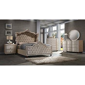 Amazon.com: Diamond Canopy Bedroom Set Queen Size 5 pc. Bed, 2 Night ...