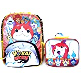 "Yo-kai Watch 16"" Backpack Book Bag with Lunch Bag Set"