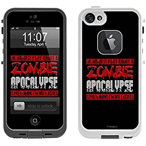 Skin Decal for LifeProof Apple iPhone 5 Case - Hardest Part Zombie Apocalypse on Black