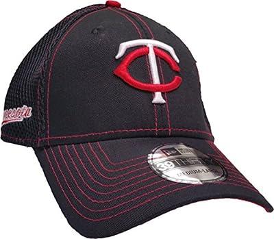 Minnesota Twins MLB New Era Black Crux Line Neo 39THIRTY Stretch Fit Cap, Size Large/X-Large