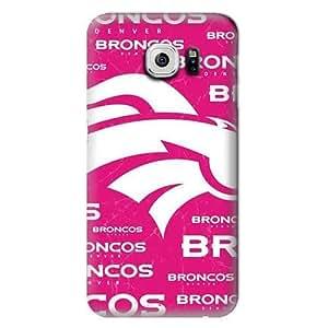S6 Case, NFL - Denver Broncos Pink Blast - Samsung Galaxy S6 Case - High Quality PC Case