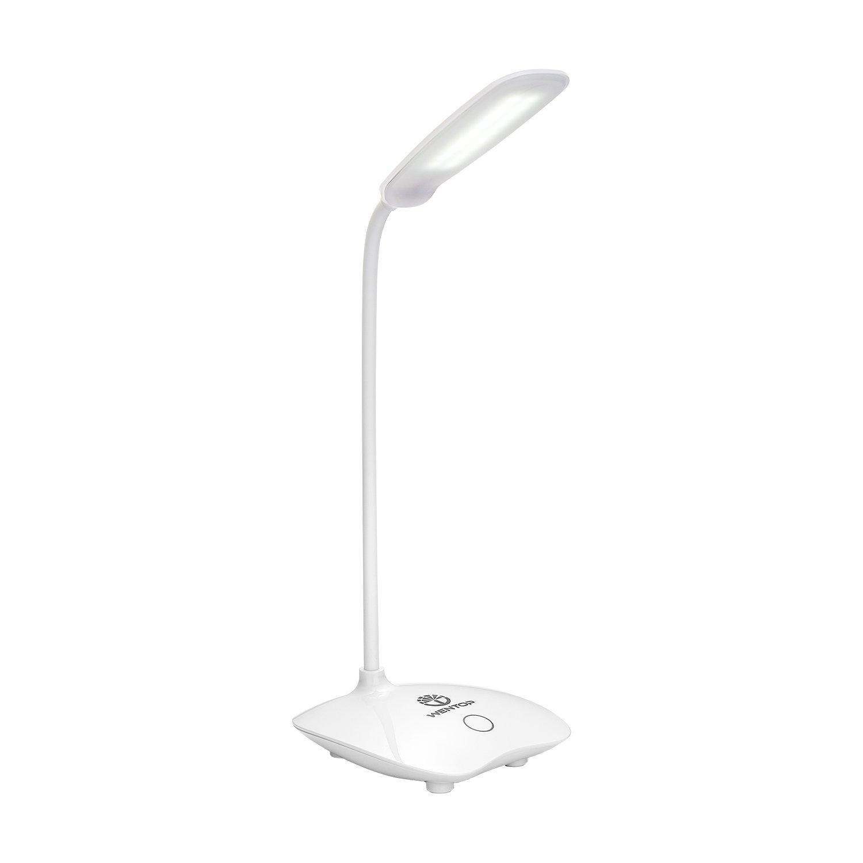 WenTop LED Schreibtischlampe,leselampe,100% natürliches Licht, portable tischlampe,3 Level Dimmer Touch Control, Energiespar-Tischlampe für das Studieren, Büro, kampieren oder reisen Ect. - weiß [Energieklasse A+] 100% natürliches Licht Büro
