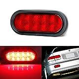 iJDMTOY Super Bright JDM Style Red Lens 10-LED Rear Fog Light Assy For Acura Honda Nissan Mazda Subaru Toyota, etc