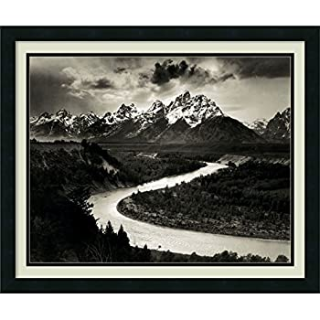 Framed Wall Art Print The Tetons and The Snake River, Grand Teton National Park, Wyoming, 1942 by Ansel Adams 26.25 x 22.25