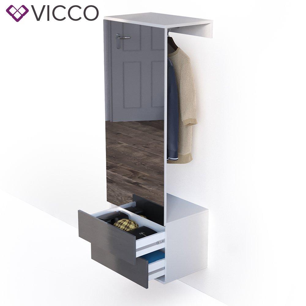 Vicco Garderobenset Flur Garderobe Hochglanz Mit Push To Open