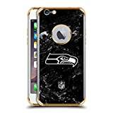 Official NFL Marble 2017/18 Seattle Seahawks Gold Shockproof Fender Case for iPhone 6 / iPhone 6s