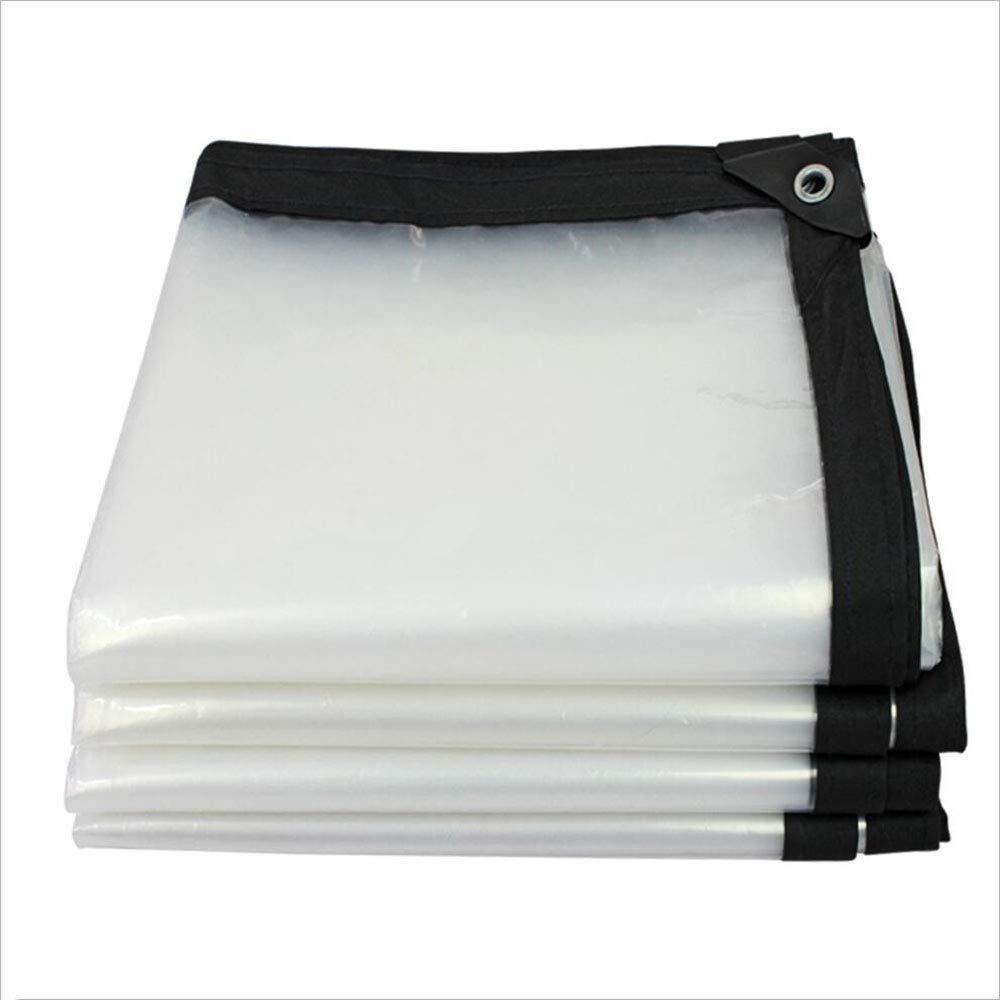 Translucide 4.8x5.8m FENG TR BÂche en Plastique imperméable épaisse Transparente en Plastique imperméable de bÂche d'isolation extérieure d'entrepôt Balcon 90G   M2 (Couleur   Translucide, Taille   4.8x4.8m)