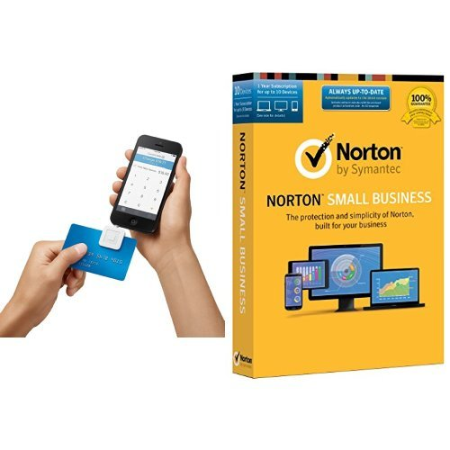 Square Reader for iPhone, iPad and Android with $10 Rebate and Norton Small Business - 10 Device Bundle (Ipad Norton)