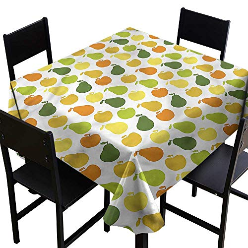 uits,Apple Pears Fresh Garden,W36 x L36 Tablecloth for Wedding ()