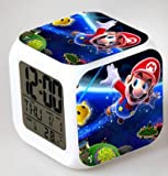 Enjoy Life : Cute Digital Multifunctional Alarm Clock With Glowing Led Lights and Super Mario sticker, Good Gift For Your Kids, Comes With Bonuses Part 2 (13)