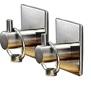 2pcs wall hooks for bathroom door hanger hanging 3m adhesive command hooks heavy. Black Bedroom Furniture Sets. Home Design Ideas