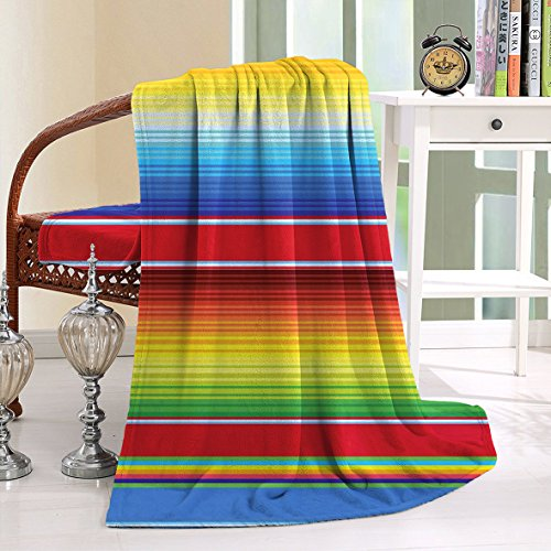 HAIXIA Blanket Horizontal and Colored Ethnic Blanket Rug Lines - Stores Mall St Louis