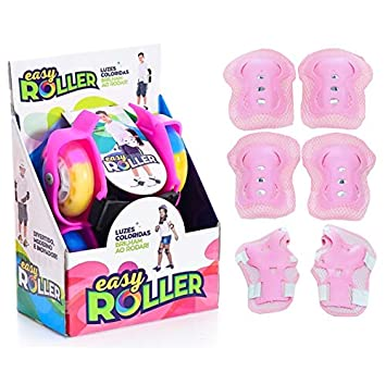 d803f751b5 Patins Infantil para Adaptar no Tênis Easy Roller com Kit Proteção Rosa