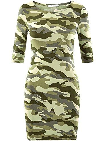 oodji Maille Vert 6025o Ultra en Femme Robe Moulante rUqprX