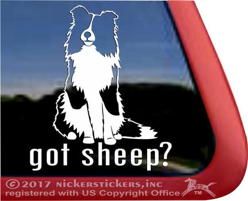 (Got Sheep? Vinyl Shetland Sheepdog Sheltie Dog Window Car Truck RV Tablet Laptop Decal Sticker)